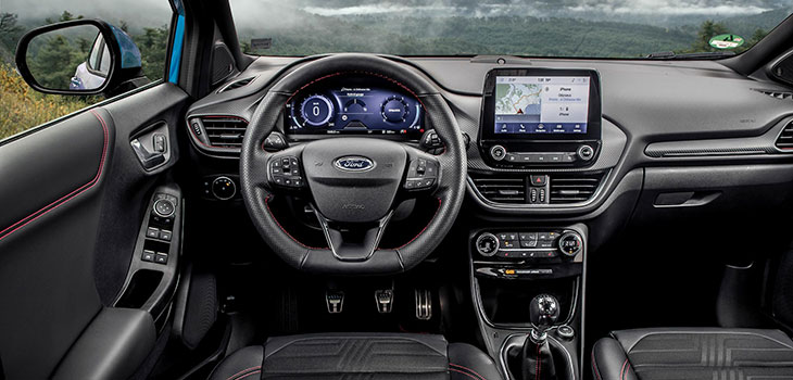 interieur ford puma ecoboost 155 mhev st line x 2019