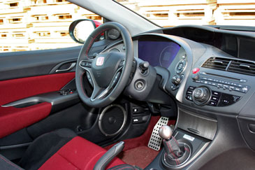 Honda civic type r fn2 2007 essai for Honda civic 8 interieur
