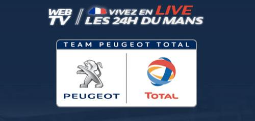 24h du mans le live chez peugeot. Black Bedroom Furniture Sets. Home Design Ideas