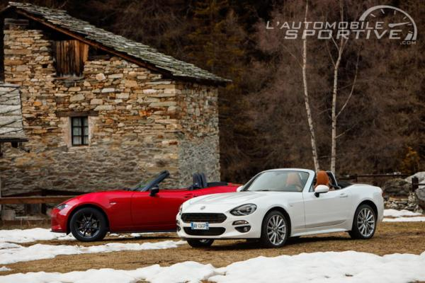 Comparatif : Fiat 124 Spider vs Mazda MX-5