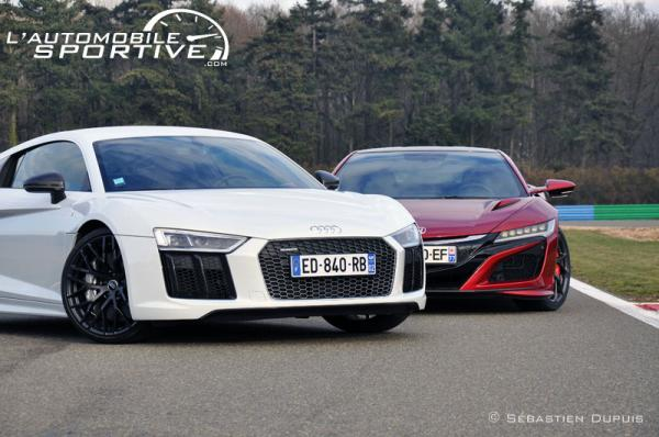 comparatif honda nsx vs audi r8 v10 plus. Black Bedroom Furniture Sets. Home Design Ideas