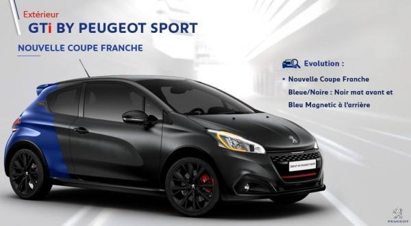 nouvelle peinture coupe franche pour la peugeot 208 gti. Black Bedroom Furniture Sets. Home Design Ideas