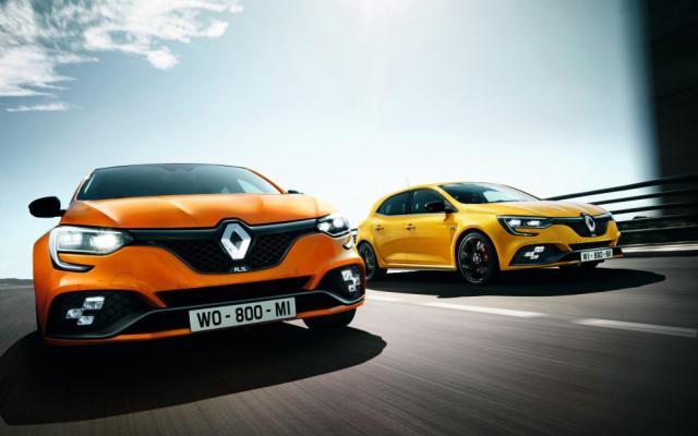 Commandes suspendues pour les Renault Mégane 4 RS jaune et orange
