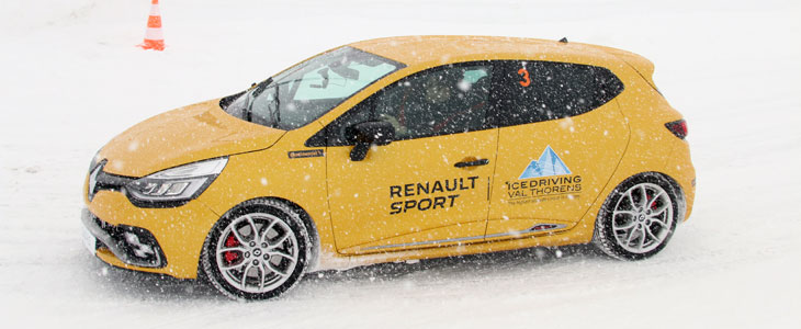 reportage renault sport ice driving experience val thorens. Black Bedroom Furniture Sets. Home Design Ideas